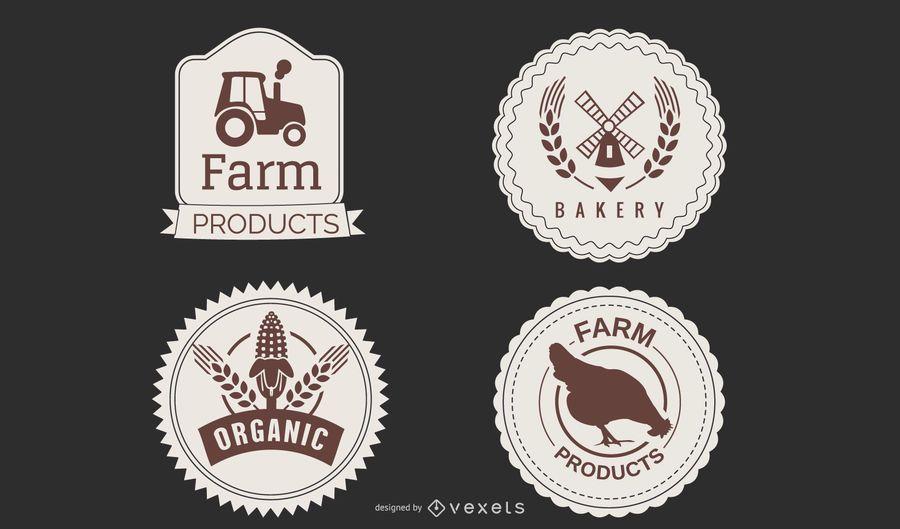 Paquete de etiquetas del mercado de agricultores