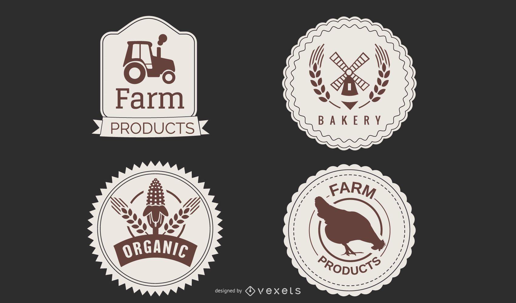 Paquete de etiquetas Farmers Market