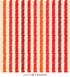 Orange red scribble stripes