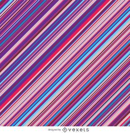 Riscas diagonais roxo rosa azul