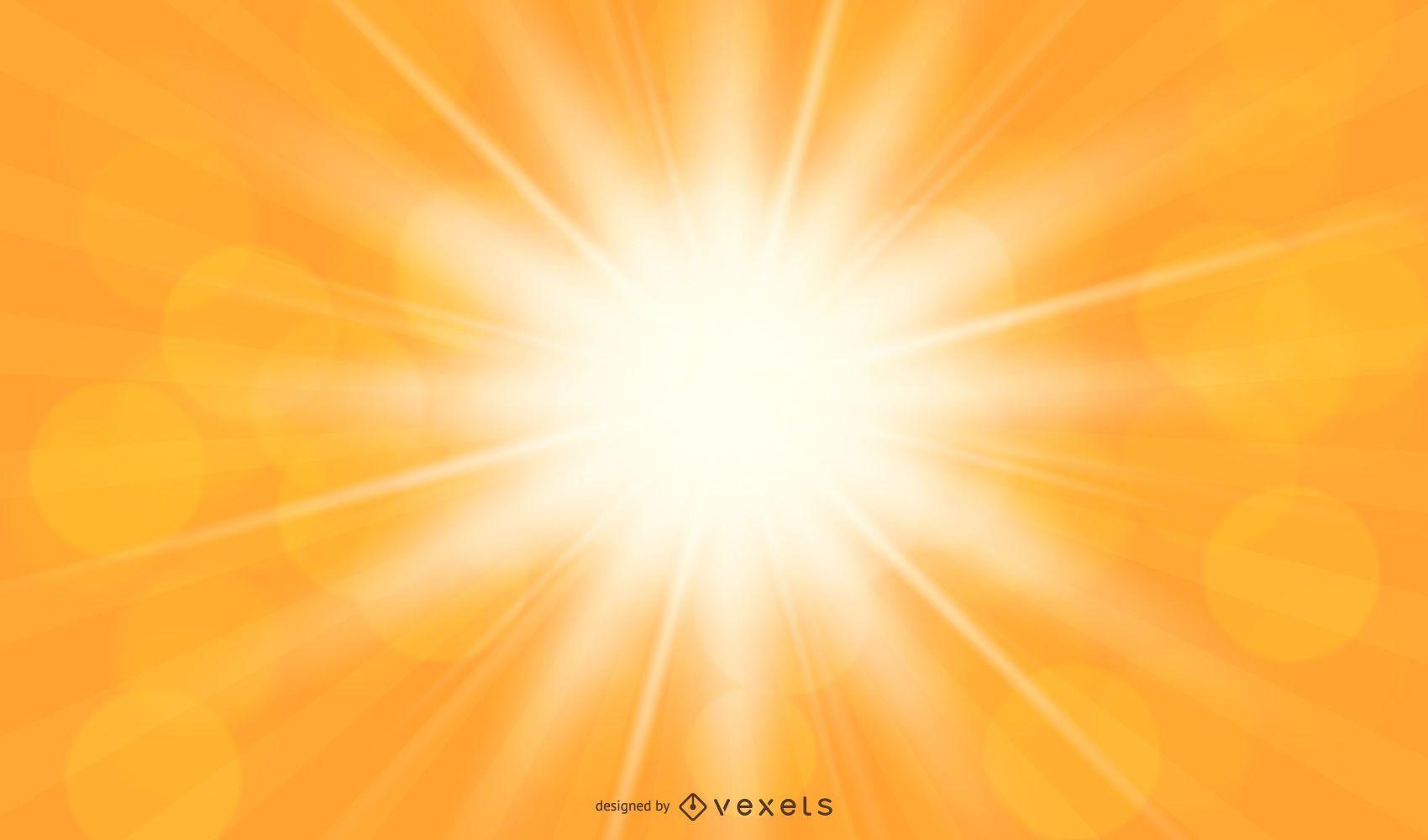 Fondo de luz solar naranja brillante