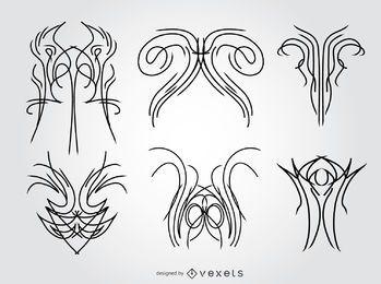 6 Nadelstreifen-Designs