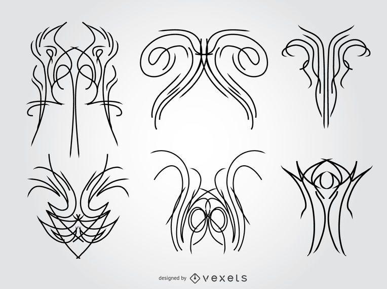 6 diseños a rayas.
