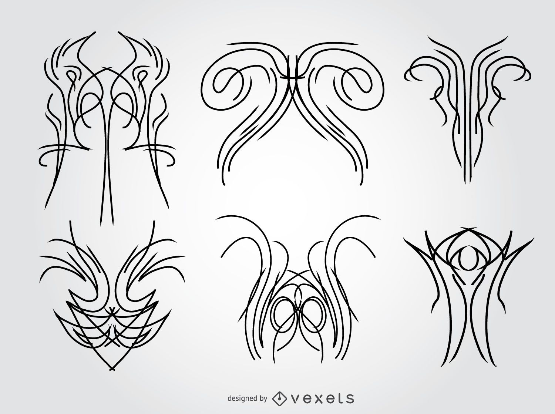 6 pinstripes designs