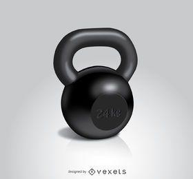 Kettlebell workout 24 kg