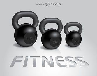 3 Fitness Kettlebells