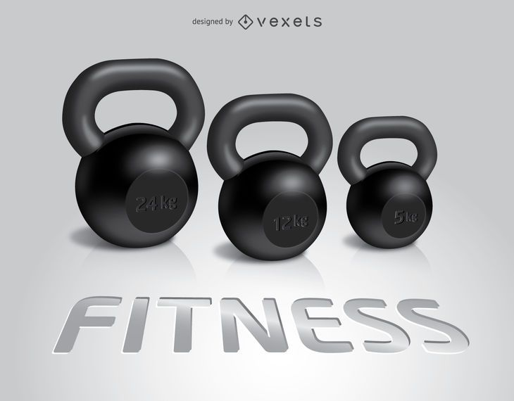 3 Kettlebells De Fitness