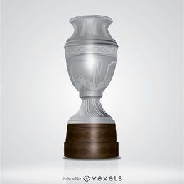 Big silver trophy