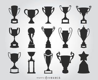 15 silhuetas de troféu