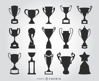 15 silhuetas troféu