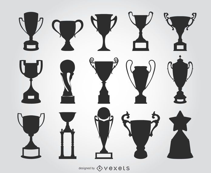 15 trophy silhouettes