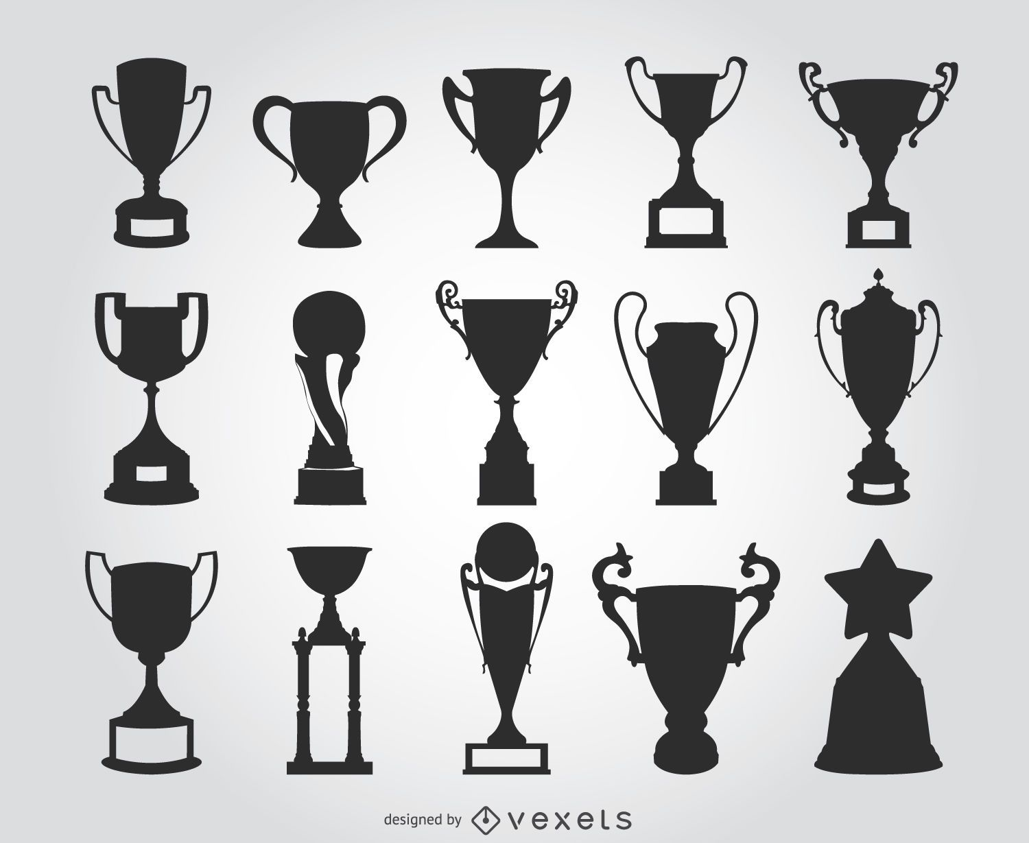 15 Trophy Silhouettes Vector Download