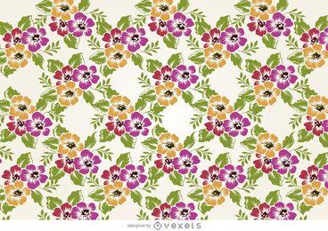 Desenho de padrão de flores