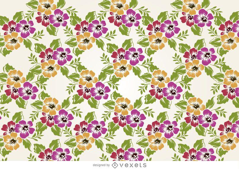 Desenho padrão de flores