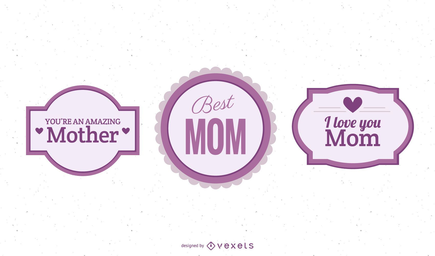 Colorful Mother?s Day Labels Pack