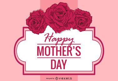 Cartão floral decorativo do dia das mães