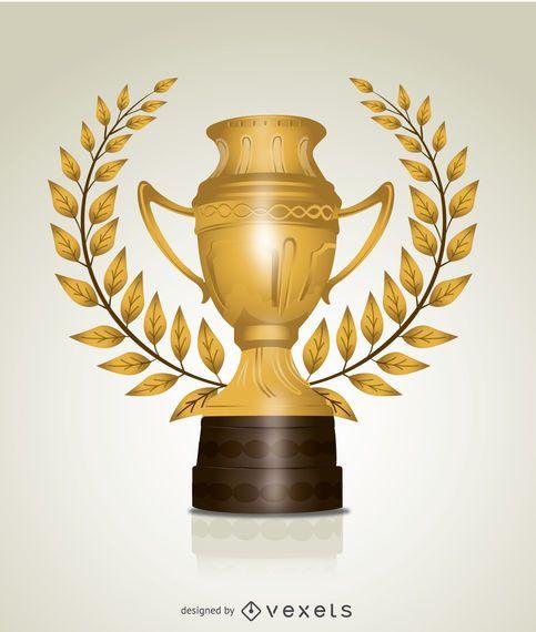 Folhas de troféu de ouro