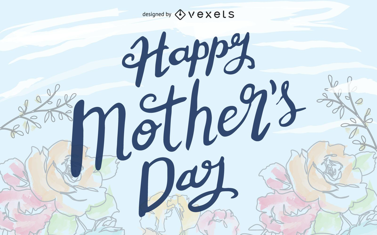 Tipografias desenhadas à mão para o dia das mães