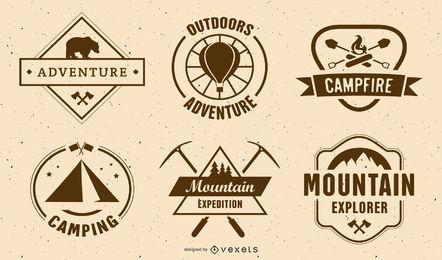 Jahrgang Camping Label Set
