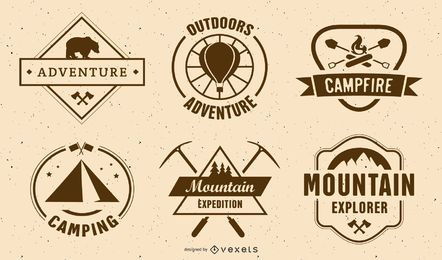 Vintage Camping Label Set
