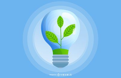 Green Eco Light Bulb