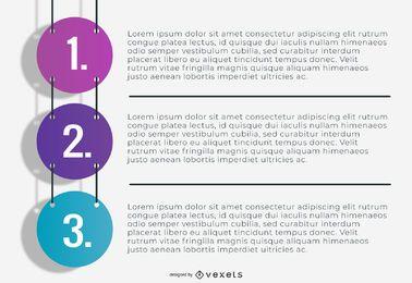 Infografía de negocios de números colgantes