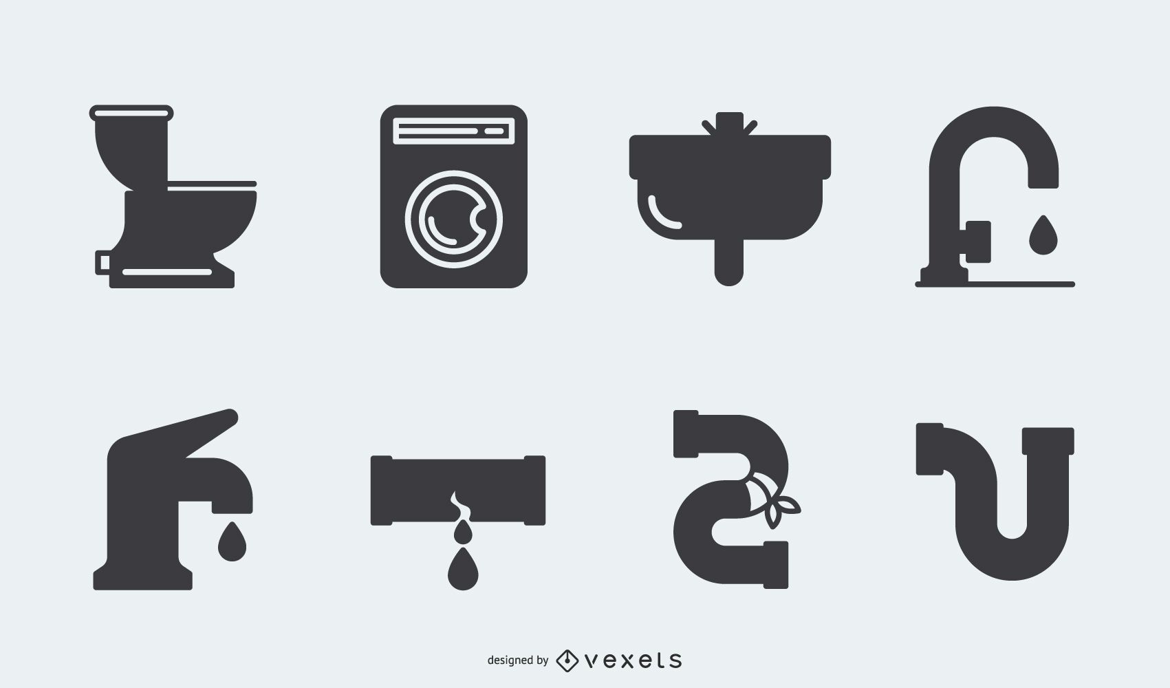 Silhouette Plumbing Icon Pack