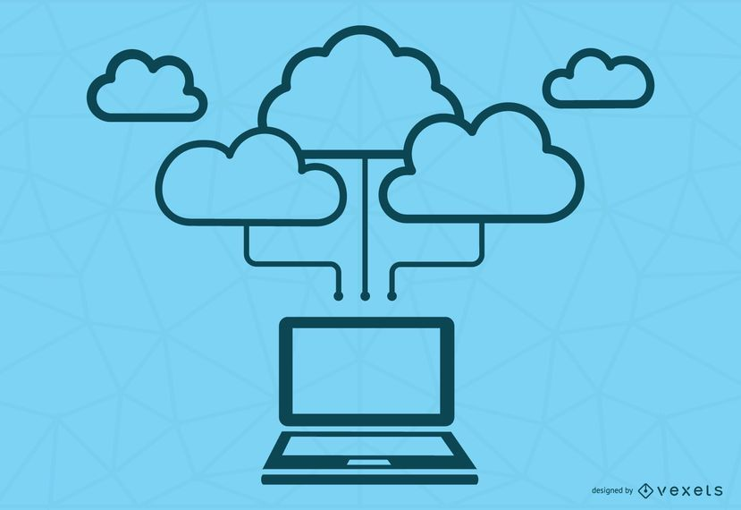 Blue Cloud Computing Concept
