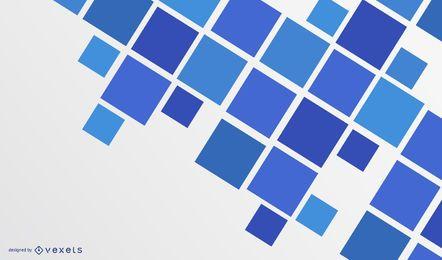 Fundo moderno azul abstrato quadrados