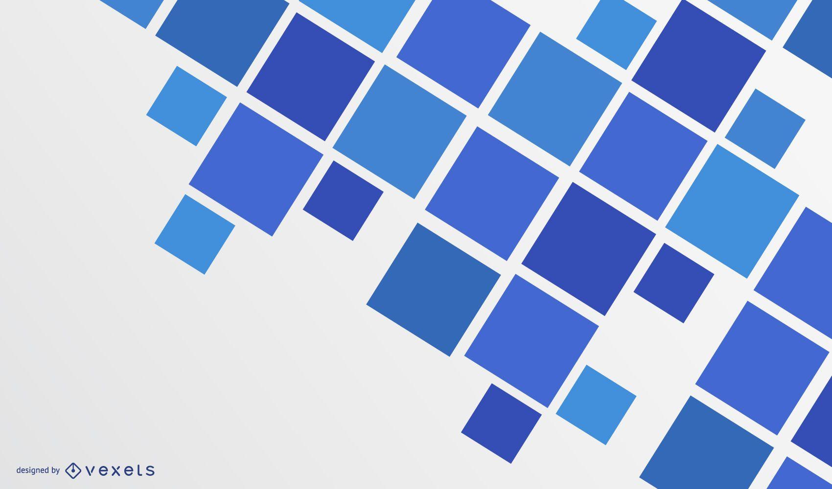 Fondo de cuadrados abstractos azul moderno