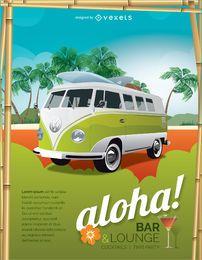 Cartaz de férias tropicais locais