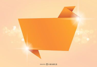 Banner de origami fondo brillante