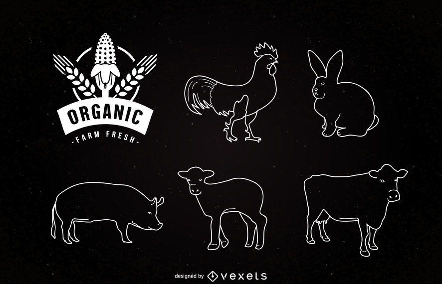 Liner Farm Animals en pizarra