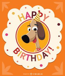 Birthday children dog card