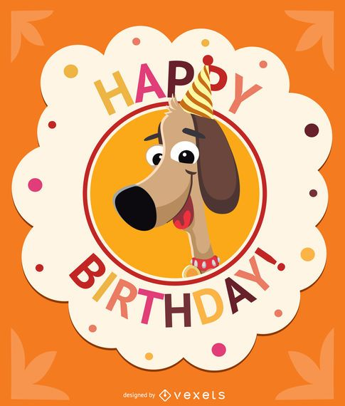 Happy Birthday Editable Card Free Vector Download 15 733: Birthday Children Dog Card
