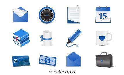 Vector libre iconos azules