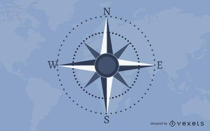 Mapa da terra do mapa náutico