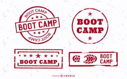 Conjunto de coto de acampamento de inicialização vintage