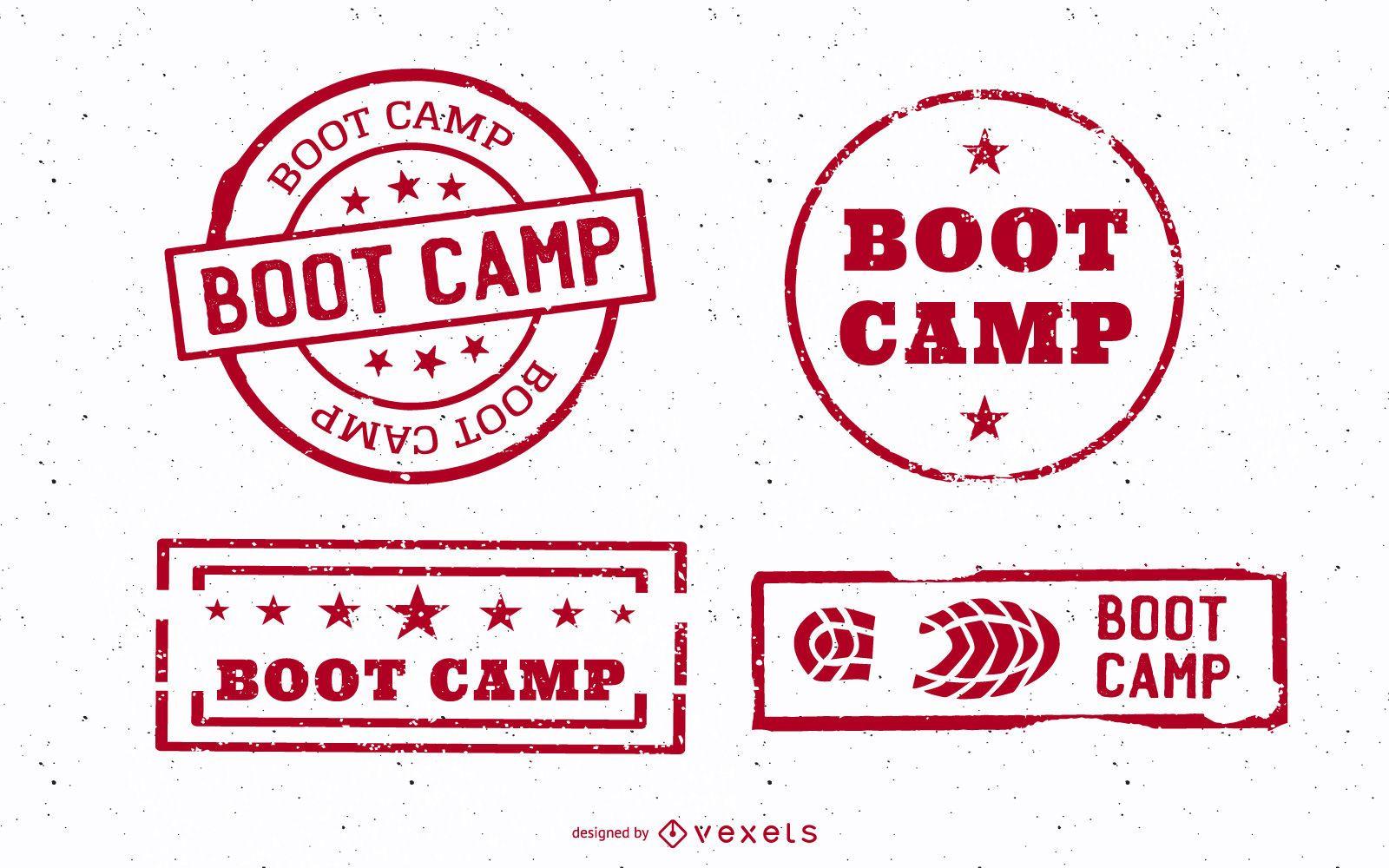 Conjunto de tocos de boot camp vintage
