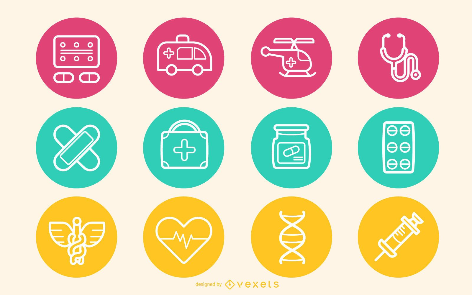 Medical Icon Circles Pack
