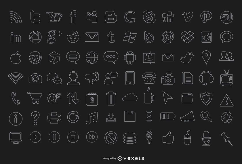 84 stroke computer icons