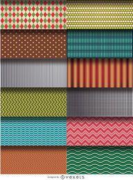 12 Muster und Texturen gesetzt