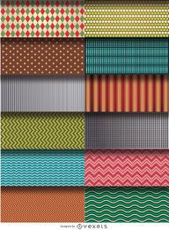 12 patterns and textures set