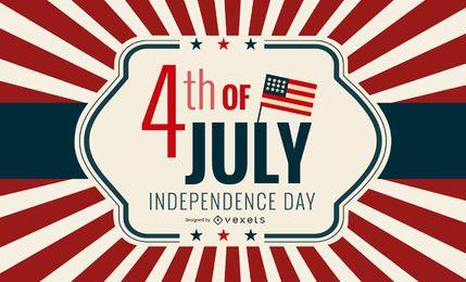 Día de los EE. UU. Tarjeta de felicitación independiente