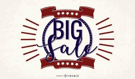 Banner promocional vintage de gran venta