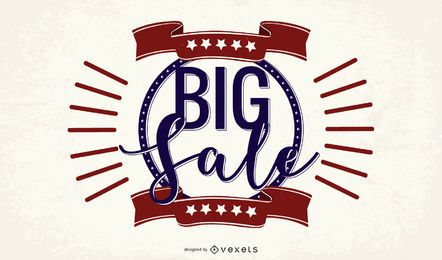 Big Sale Vintage Promotional Banner