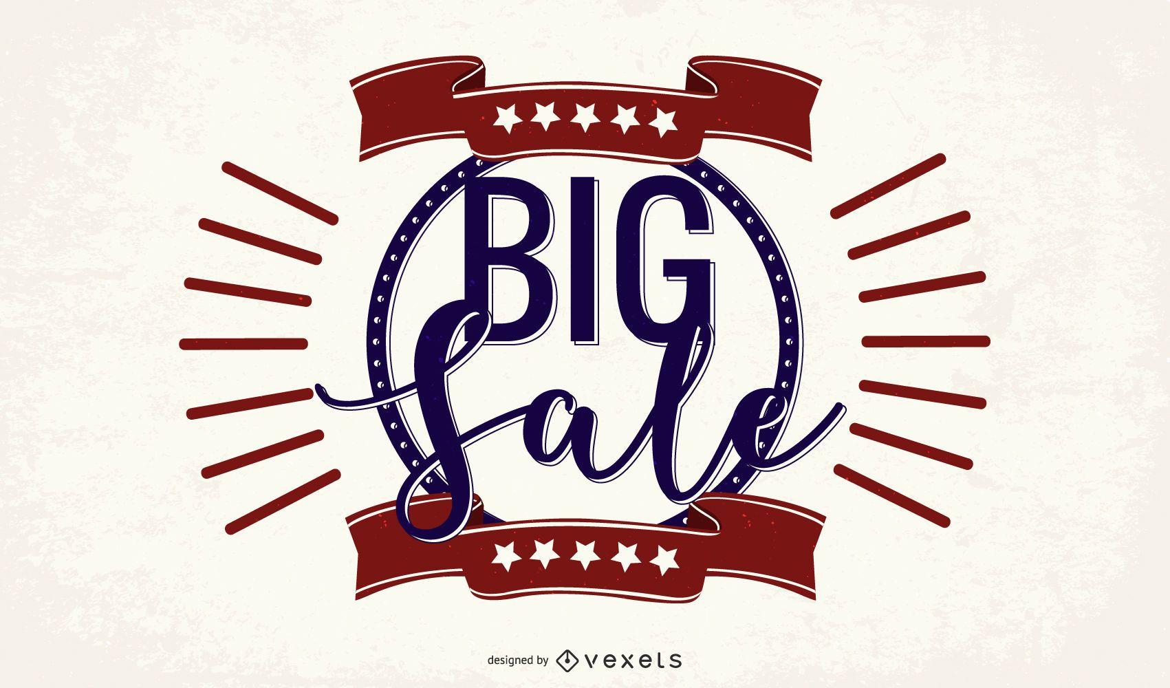 Big Sale Vintage Promotional Banner