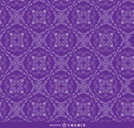 Floral ornament purple pattern