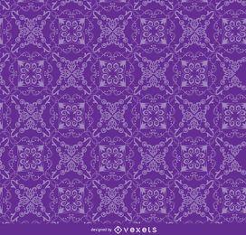 Teste padrão floral ornamento roxo