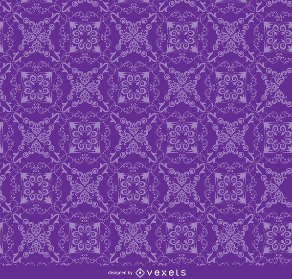 Floral ornament purple pattern